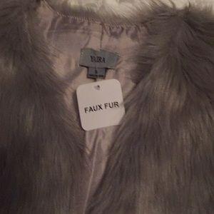 yaira Jackets & Coats - Yaira faux fur gray black size small